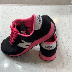 Neon Pink & Black New Balance 501's